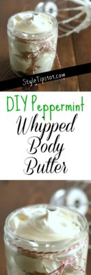 diy whipped peppermint body butter