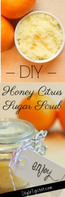 DIY Honey Citrus Sugar Scrub