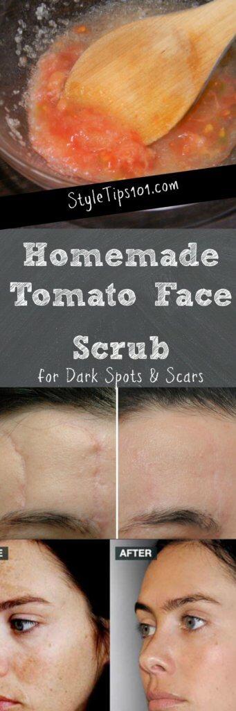 Homemade Tomato Face Scrub