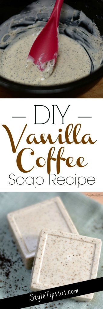 homemade vanilla coffee soap
