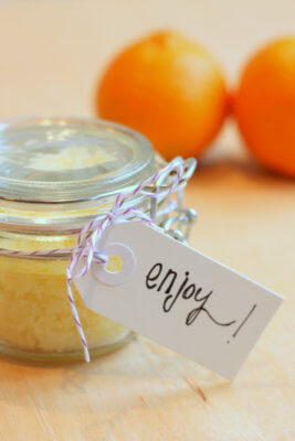 honey citrus scrub
