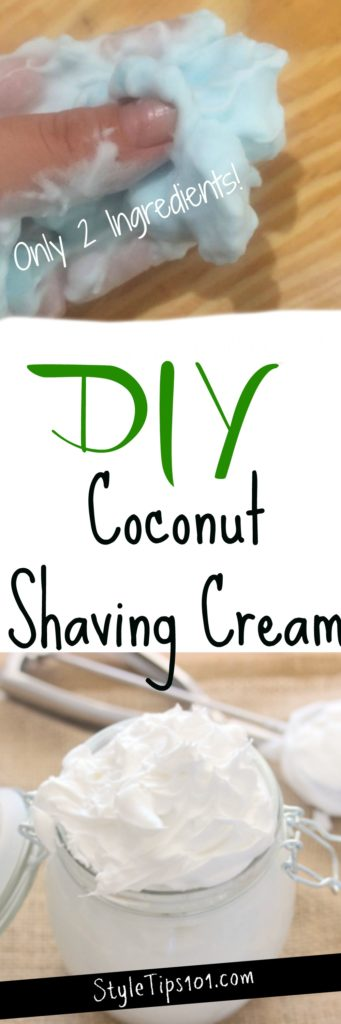 how to make shaving cream with coconut oil
