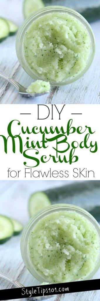 DIY Cucumber Mint Body Scrub