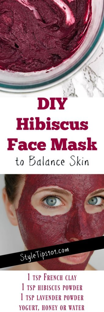 DIY Hibiscus Flower Face Mask