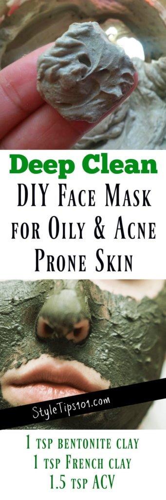 homemade deep clean face mask