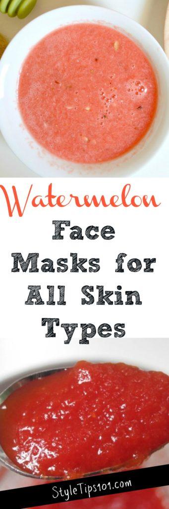 Homemade Watermelon Face Masks