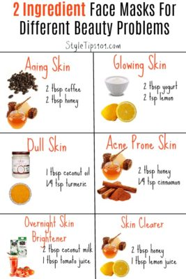 two ingredient face masks