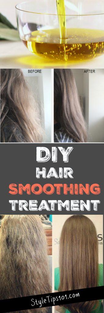 DIY Hair Smoothing Treatment