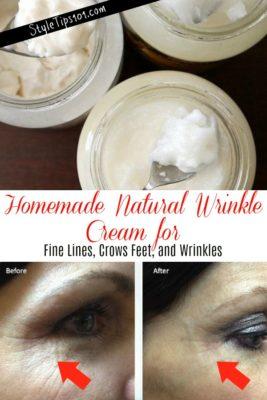 homemade natural wrinkle cream