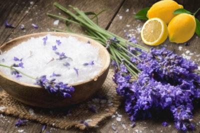 lavender and lemon scrub