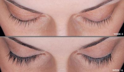 long lashes before and after