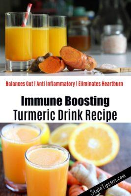 DIY Immune Boosting Turmeric Drink