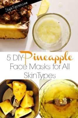 DIY Pineapple Face Masks