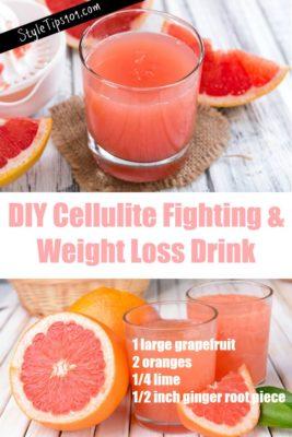 DIY cellulite fighting drink