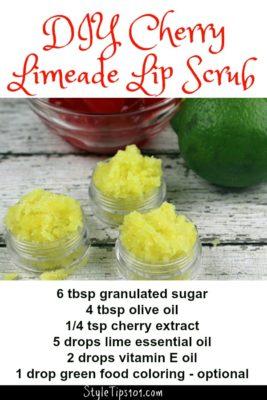 diy cherry limeade lip scrub