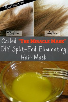 diy hair mask for split ends
