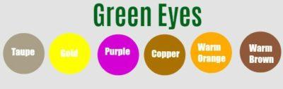 green eyes eyeshadow match