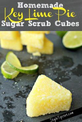 homemade key lime pie sugar scrub