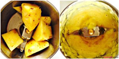 pineapple in blender