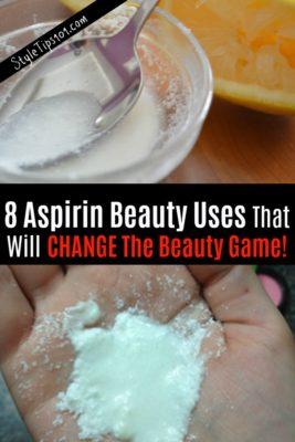 Aspirin Beauty Uses