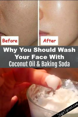 Baking Soda and Coconut Oil Face Mask