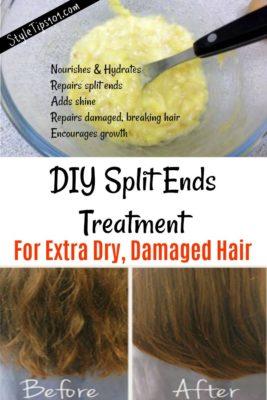 DIY Split Ends Treatment