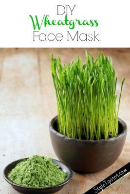 DIY Wheatgrass Face Mask
