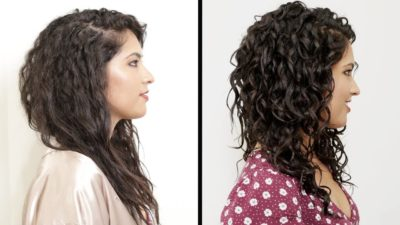before and after curly hair treatment