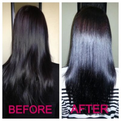 before and after hair serum