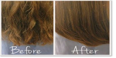 before and after split ends treatment