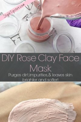 homemade rose clay mask