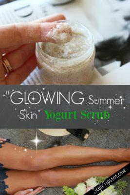homemade yogurt body scrub