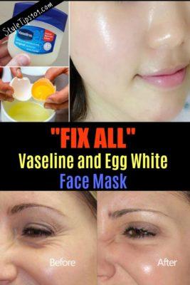 vaseline and egg white face mask