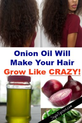 DIY onion hair oil