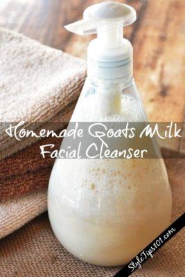 Homemade Goats Milk Facial Cleanser