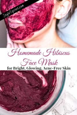 homemade hibiscus face mask