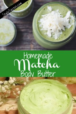 homemade matcha body butter