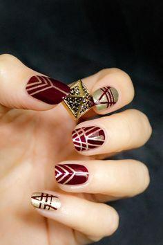 tribal wine nails