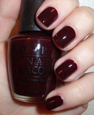 deep burgundy nails
