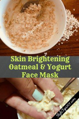 DIY Oatmeal Yogurt Face Mask