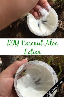 DIY coconut aloe lotion