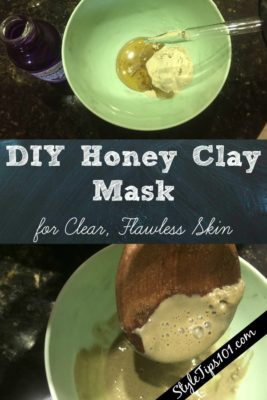 DIY honey clay mask