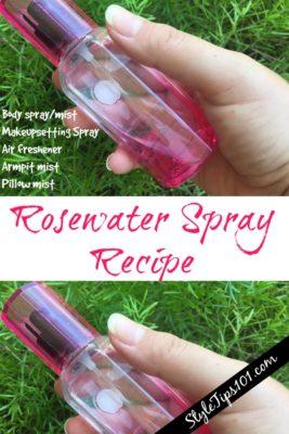 Homemade Rosewater Spray