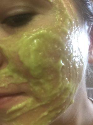 avocado egg white mask