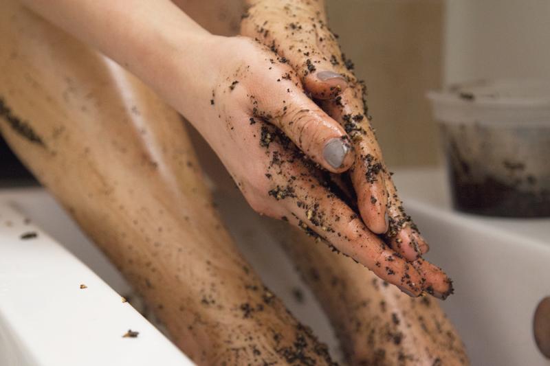 DIY Foot Scrub Recipe With Black Lava Salt