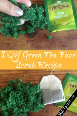 diy green tea face scrub