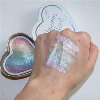 unicorn makeup swatch