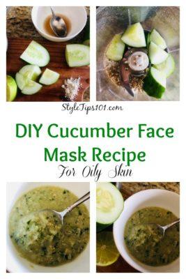 DIY Cucumber Face Mask Recipe