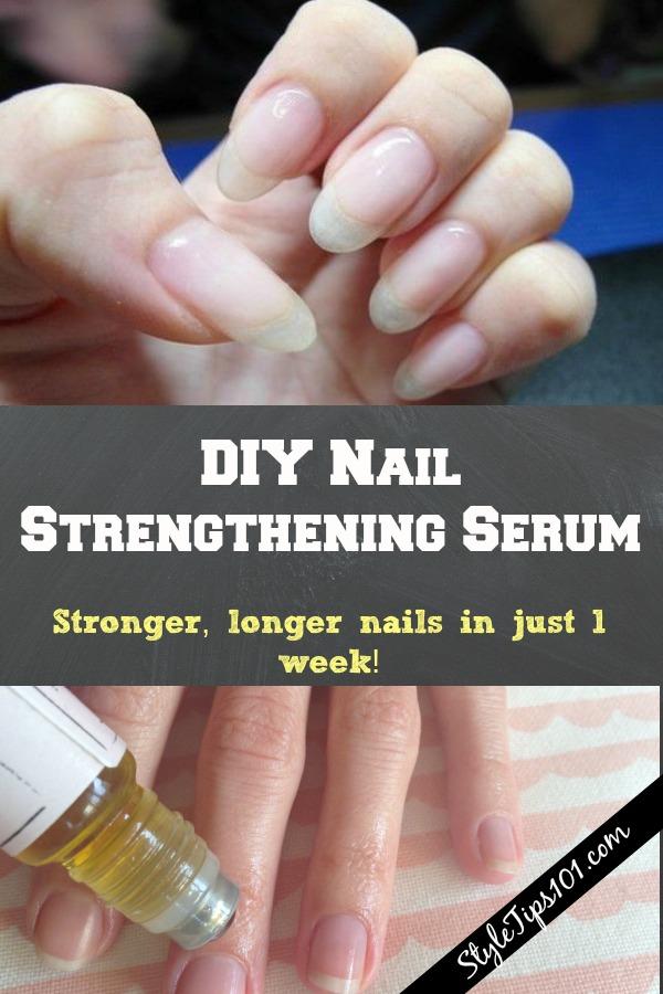 DIY Nail strengthening serum