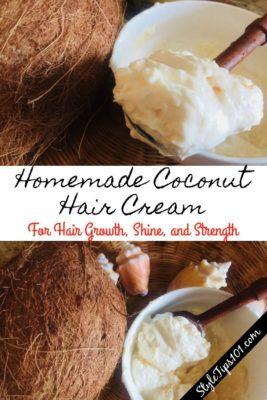 Homemade Coconut Hair Cream